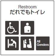 だれでもトイレのマークの画像
