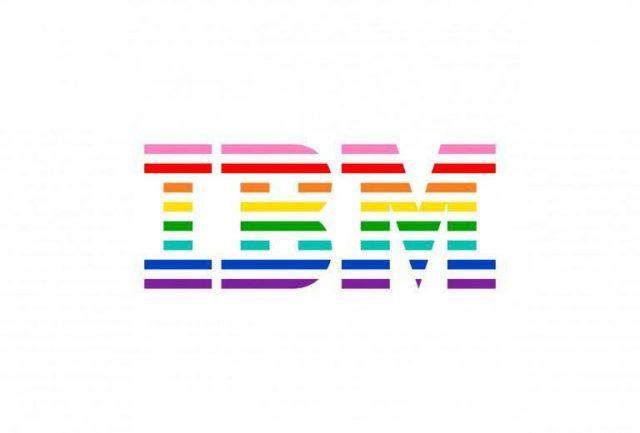 虹色のIBMの画像