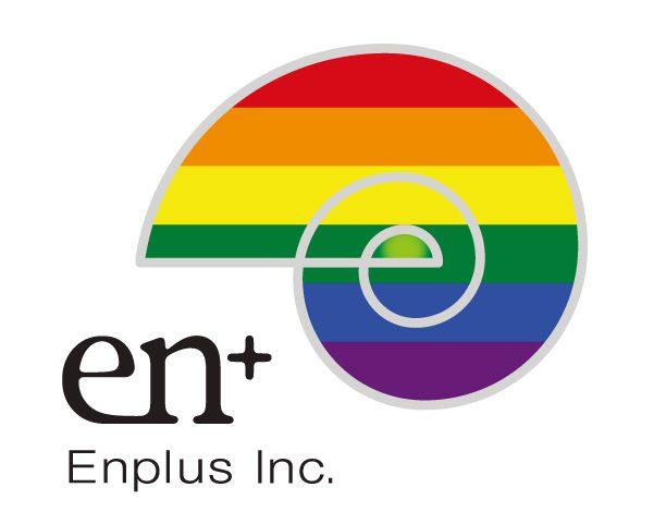 エンプラスのロゴ画像(虹色版)