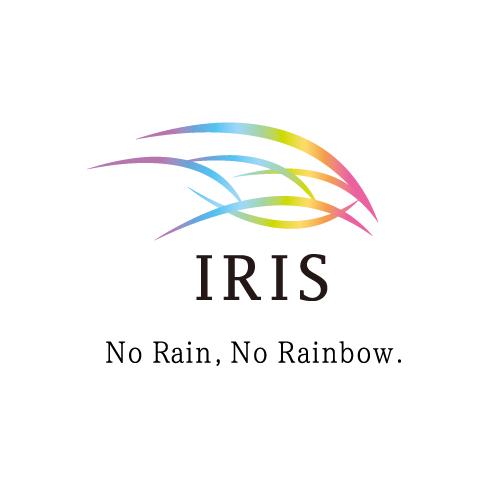 IRISのロゴ画像(虹色版)