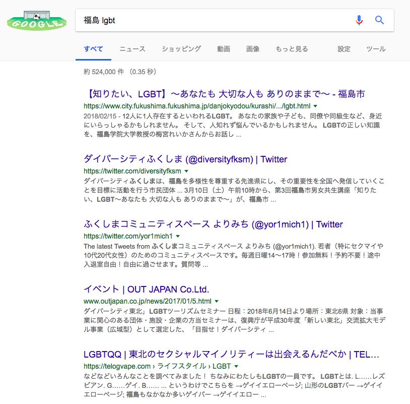 「福島 LGBT」の検索結果