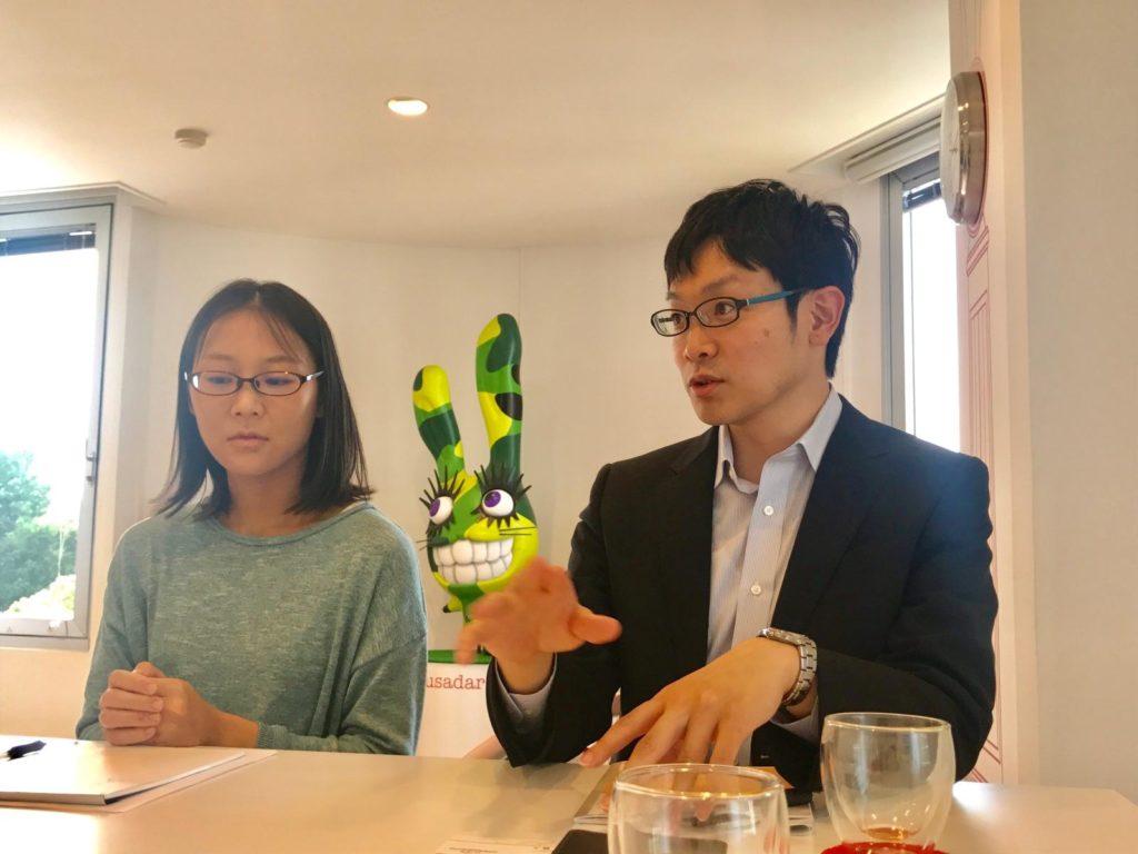 マーケティング室の高田さん(写真左)加納さん(写真右)