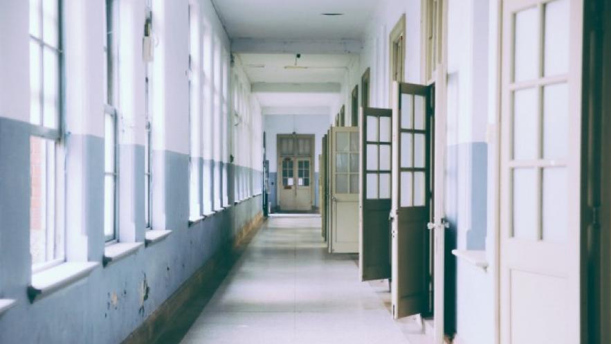 学校の廊下の写真