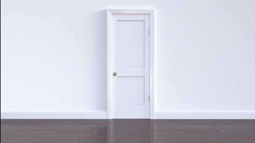 真っ白なドア