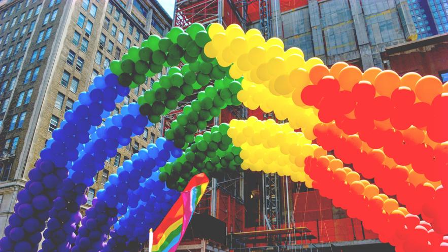 虹色の風船