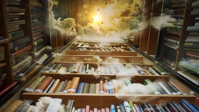 そびえ立つ本棚