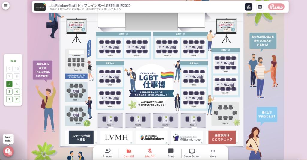 LGBT仕事博の会場全体イメージ